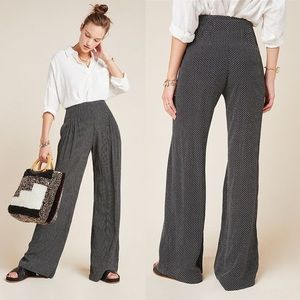 Anthropologie Maeve Wide Leg Polka Dot Pants